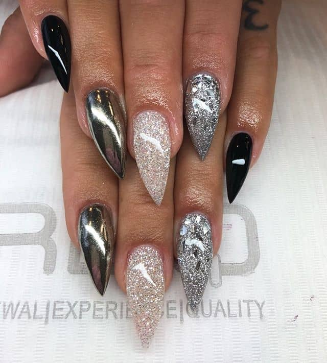 Sexy and Simple Glitter Stilettos