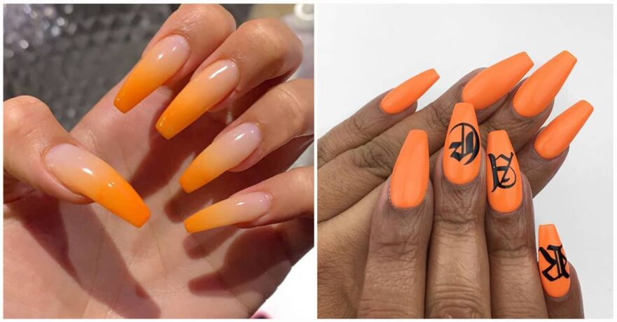 50 Orange Nail Ideas to Make You Stun in Every Season