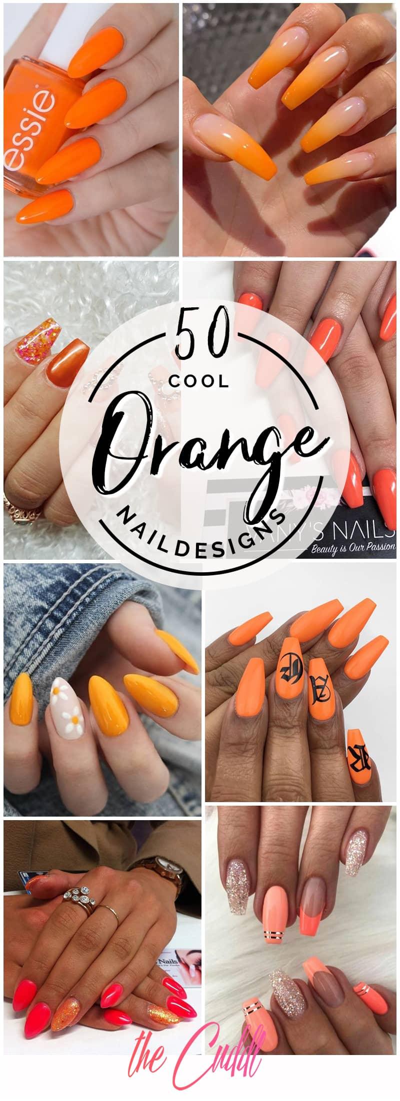 50 Orange Nail Ideas to Make You Stun in Every Season