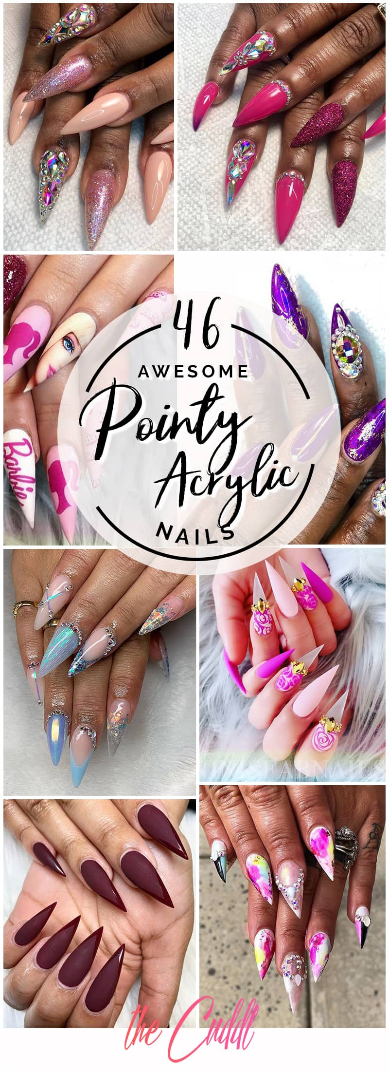 46 Cute Pointy Acrylic Nails that are Fun to Wear