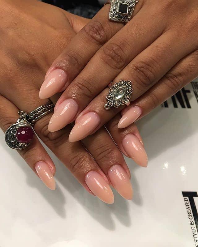 Ballerina Pink Mountain Peak Nails with Shine