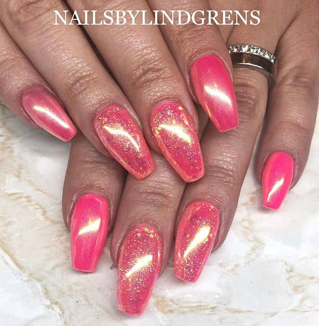 Shimmering Pink Lindgrens Nails Make a Statement