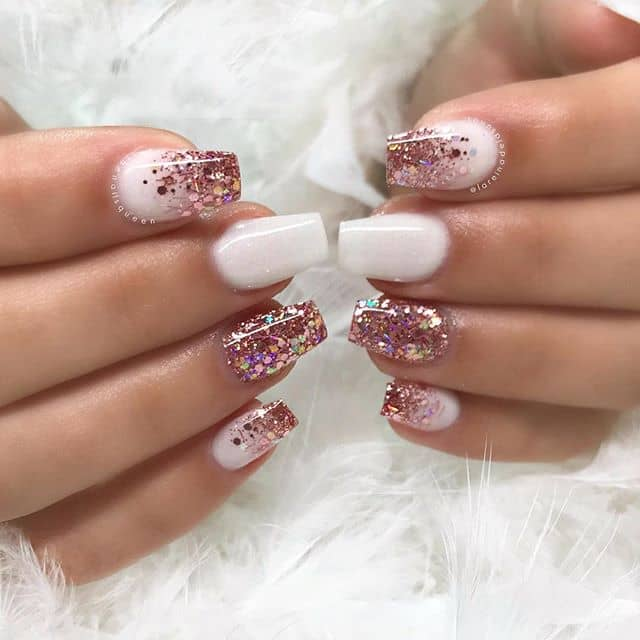 A Popular Pink Prom Nail Design