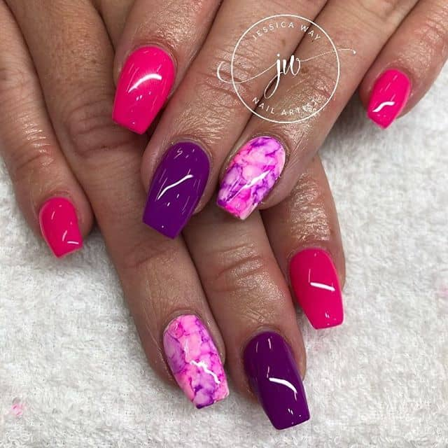 Groovy Colorful Tie Dye Jessica Way Nails