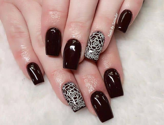 Perfect Halloween Gothic Coffin Nails