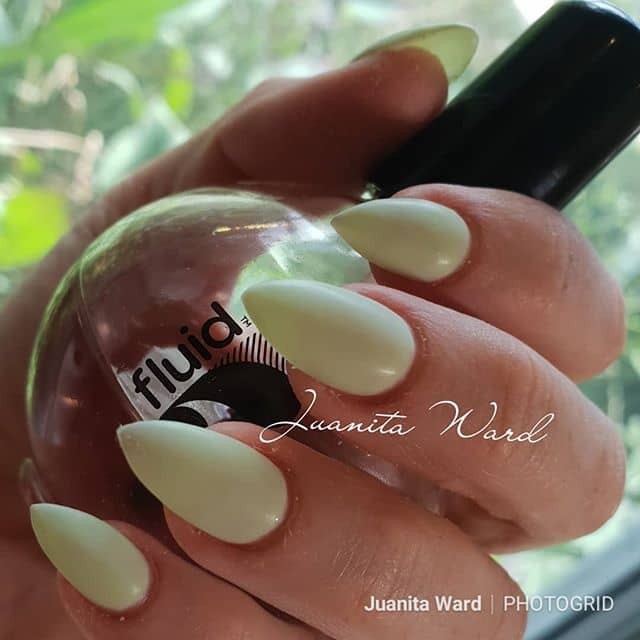 Melon Smooth Cute Almond Nails with Matte Finish