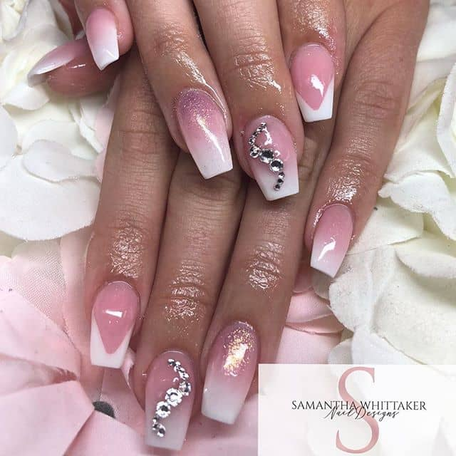 Regal Royal Pink Jewel Nails