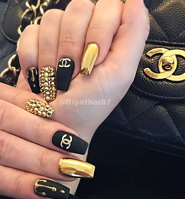 Fancy Coco Chanel Nails Evoke Luxury