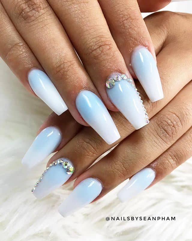 Beautiful in Blue Cotton Candy Nails