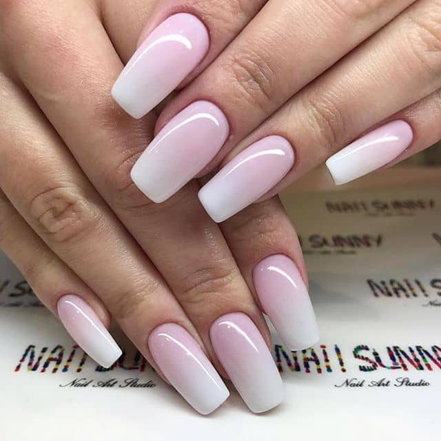 Elegant French Ombre Prom Nails