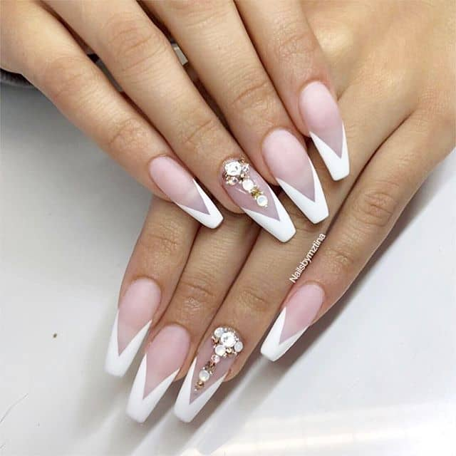 Amp Up the French Tips with a Trendy Design