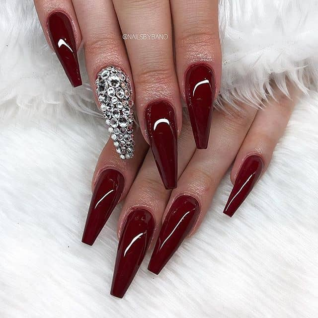 Tear Drop Meets Square Tipped Diamond Nails