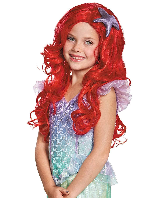 Magical Mermaid Ariel Fantasy Mythical Underwater Red Adult Fancy Dress Wig
