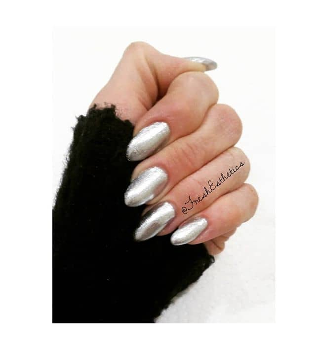 Pointed Round Tipped Silver Nails
