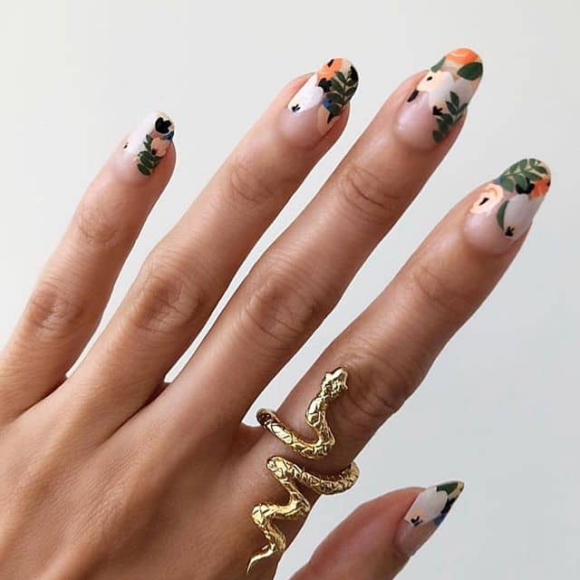 Another Indie Inspired Flower Nails