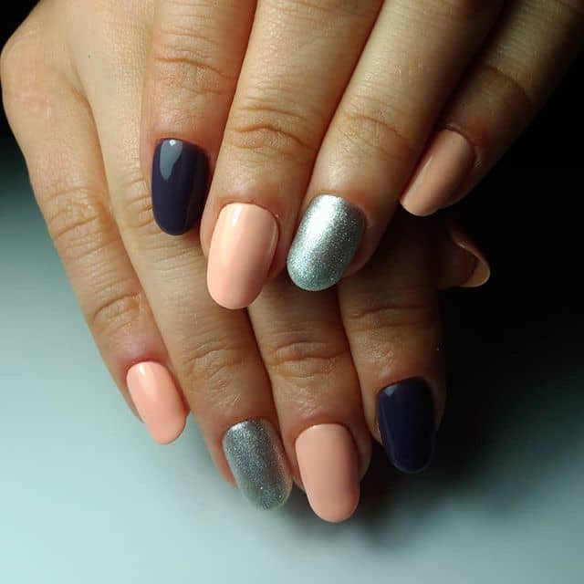 Multiple Colors and Silver Nail Ideas