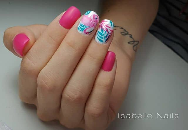 Lilly Pulitzer Inspired Flower Nails